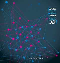 3d mesh polygonal abstract object isolated on dark vector image vector image