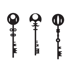 Silhouettes of the keys vector