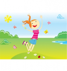 Summer cartoon vector