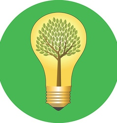 Go green eco concept flat design icon in green vector