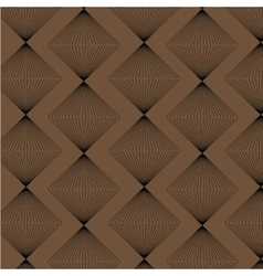 Brown rhombus strict style pattern vector