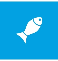 Fish icon white vector