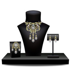 Collection of jewelry vector image