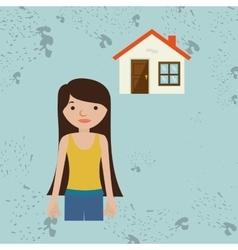 Homeowner outside design vector