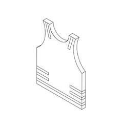 Paintball protective vest icon isometric 3d style vector