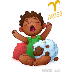 Zodiac sign Aries Horoscope Sign Aries African vector image
