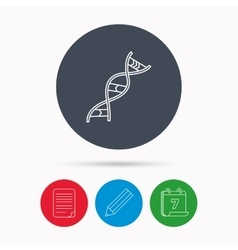 Dna icon genetic structure sign vector