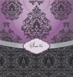 Ornate wedding card vector