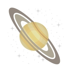 Planet of milky way galaxy isolated icon vector