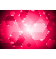 Abstract shiny tech background vector image vector image