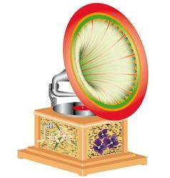 Antiquarian gramophone vector image