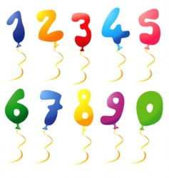 balloon number vector image vector image
