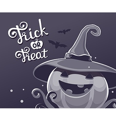 black and white halloween of decorative pump vector image