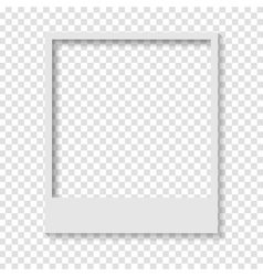 Blank transparent paper polaroid photo frame vector