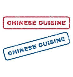 Chinese cuisine rubber stamps vector
