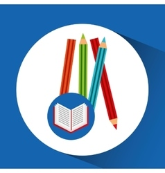 Concept school book colors vector