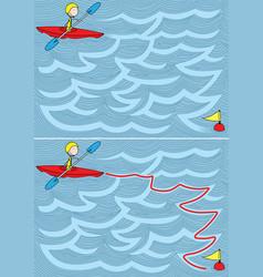 easy kayak maze vector image