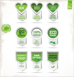 Eco labels vector