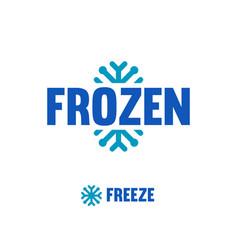 Frozen freeze logo abstract snowflake vector