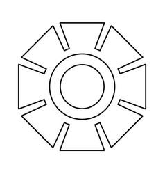 Gear machinery symbol vector