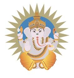Hindu ganesh vector