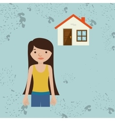 Homeowner outside design vector image