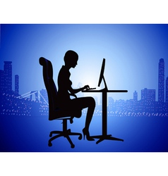 IT Secretary Background vector image vector image