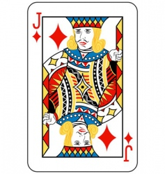 jack of diamonds vector image vector image