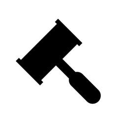 law hammer icon vector image