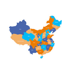Map of administrative provinces of china vector