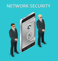 mobile phone security cellphone personal access vector image vector image