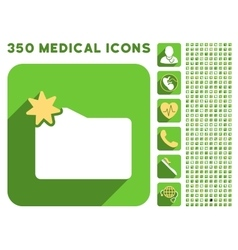 New folder icon and medical longshadow icon set vector