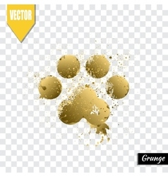 Paw print animal vector