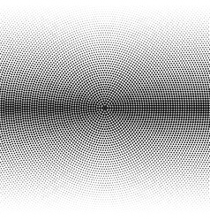 radial halftone black background pattern vector image vector image