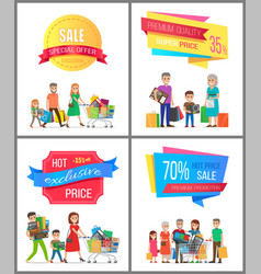 Sale low price special discount super choice card vector