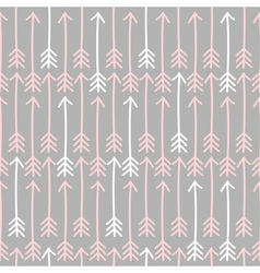seamless arrow pattern in gray pink and white vector image