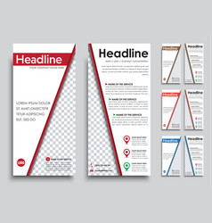 Set white flyers size of 210h99 mm vector