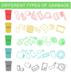 sorting different types of vector image