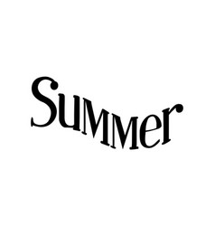 summer isolated hand drawn lettering vector image