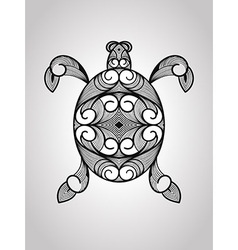 Turtle tattoo style vector