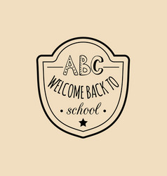 vintage back to school badge retro vector image