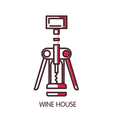 Wine house icon template of wine modern vector