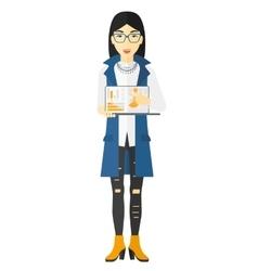 Woman presenting report vector image