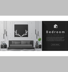 Interior design modern bedroom background 8 vector