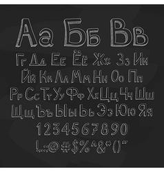 Russian alphabet vector
