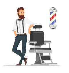 Cartoon style of barber vector