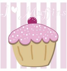 Cartoon muffin vector