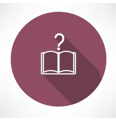Questions book icon vector