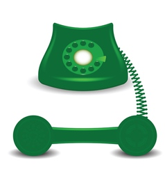 Old green phone vector