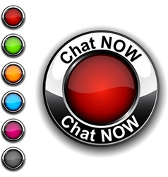 Chat now button vector